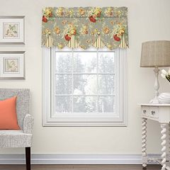 Waverly Sanctuary Rose Peek-a-Boo Window Valance