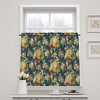 Waverly Sanctuary Rose Tier Curtain Pair