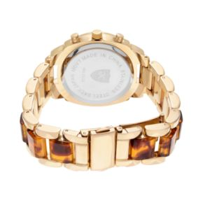 Journee Collection Women's Crystal Two Tone Watch