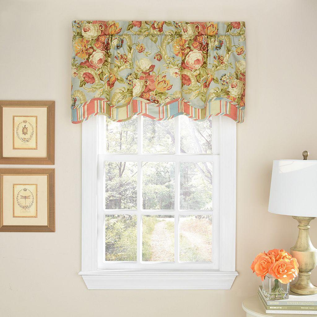 Waverly Spring Bling Scalloped Window Valance