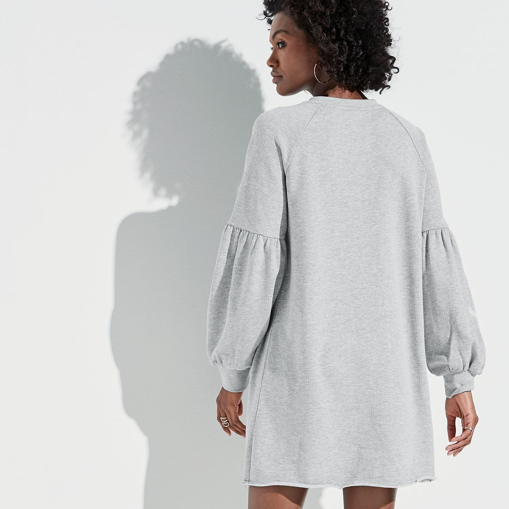 k/lab Bishop Sleeve Sweatshirt Dress