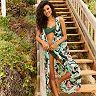 Women's LC Lauren Conrad Beach Shop Tropical Open Front Cover-Up