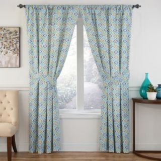 Waverly 1-Panel Lunar Lattice Window Curtain