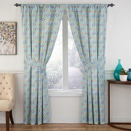 Waverly 1-Panel Lunar Lattice Window Curtain