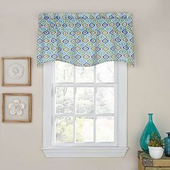 Waverly Lunar Lattice Wave Window Valance
