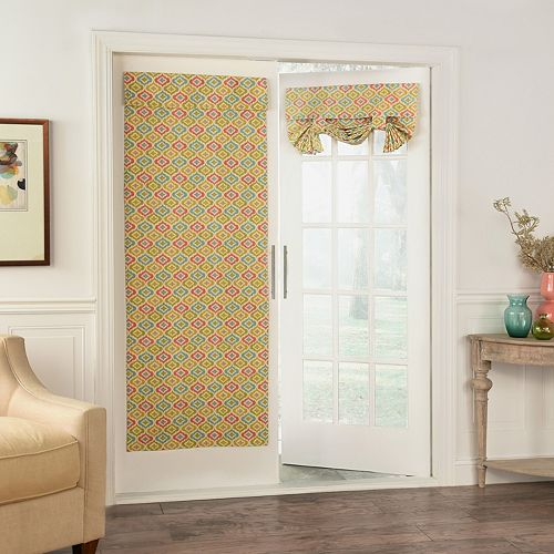 Waverly 1-Panel Lunar Lattice Door Curtain