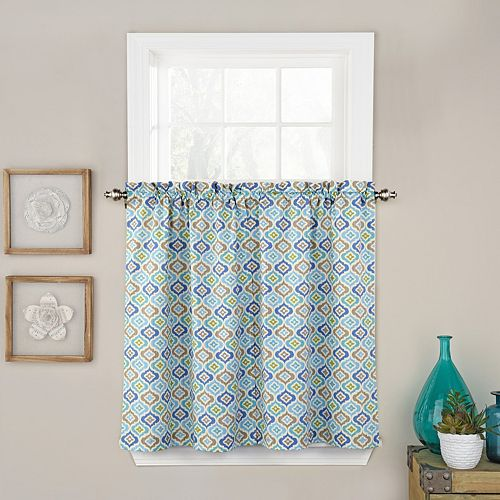 Waverly Lunar Lattice Tier Curtain Pair