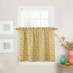 Waverly Lunar Lattice Tier Curtain Pair
