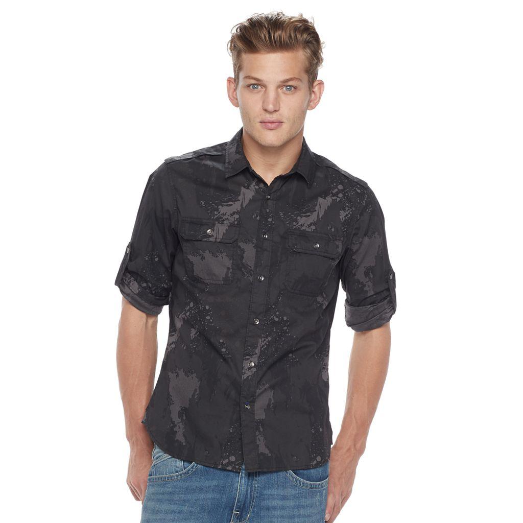 Men's Rock & Republic Disruptive Stretch Button-Down Shirt