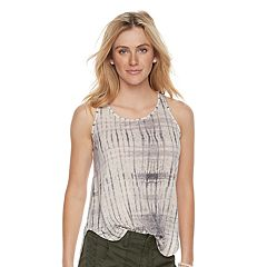 Women's SONOMA Goods for Life™ Lace-Up High Low Tank