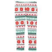 Toddler Girl Carter's Heart Fairisle Pattern Leggings