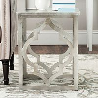 Safavieh Milo Silver Finish Trellis End Table