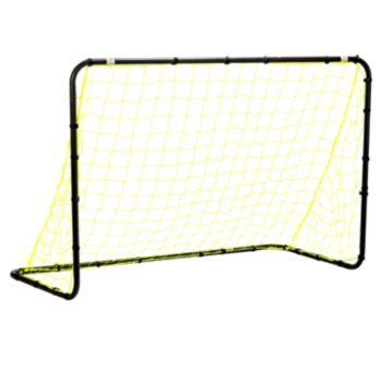 Franklin Sports 4-ft x 6-ft Black Powder Coated Steel Non-Folding Soccer Goal
