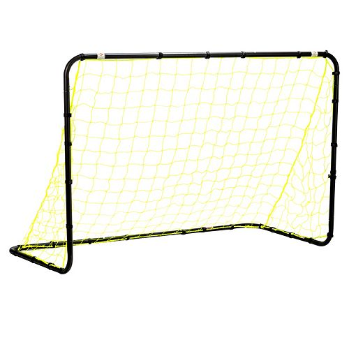 Franklin Sports 4-ft x 6-ft Black Powder Coated Steel Non-Folding Soccer Goal