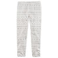 Toddler Girl Carter's Foil Fairisle Leggings
