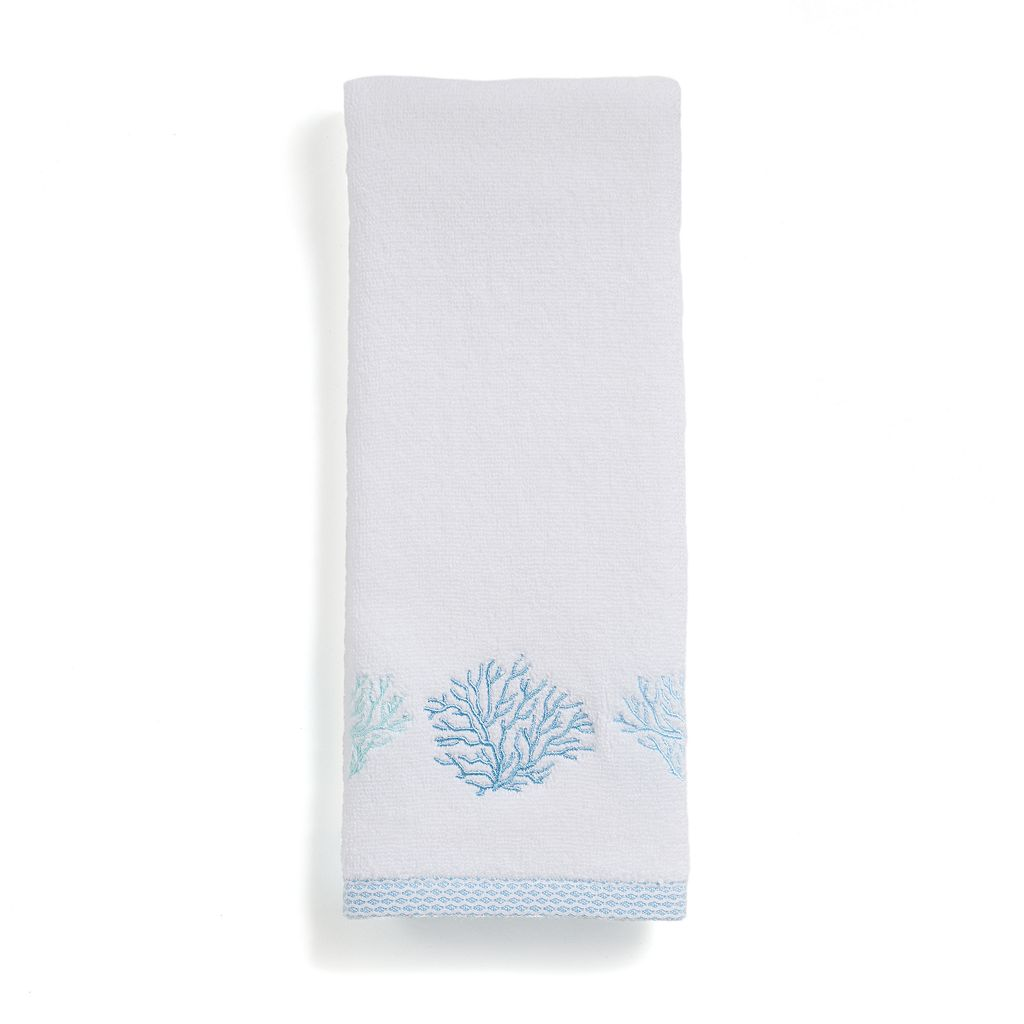 Destinations Sea Reef Embroidered Hand Towel
