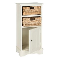 Safavieh Connery Storage Cabinet & Wicker Basket 3-piece Set