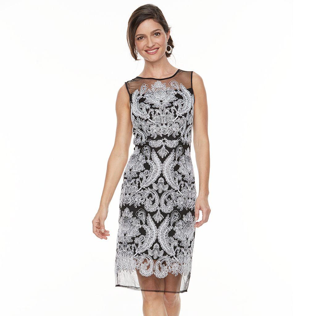 Women's Jax Mesh Lace Sheath Dress