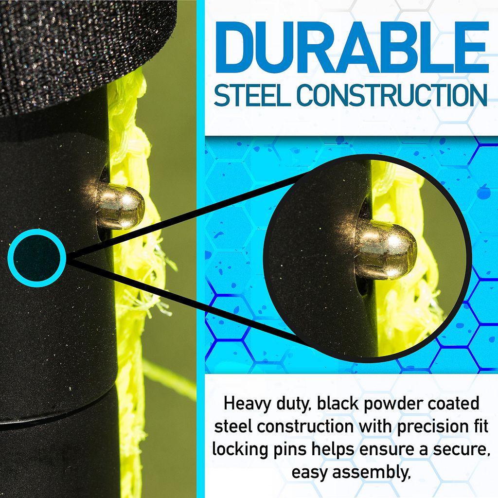 Franklin Sports 4-ft x 6-ft Black Folding Soccer Goal
