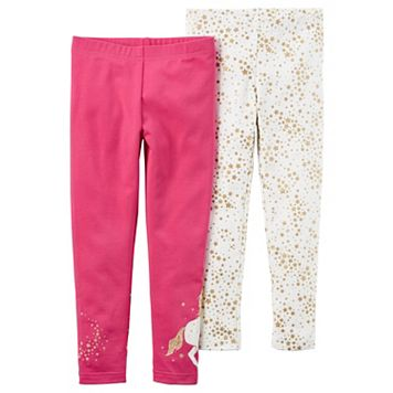 Toddler Girl Carter's 2-pk. Stars & Unicorn Leggings