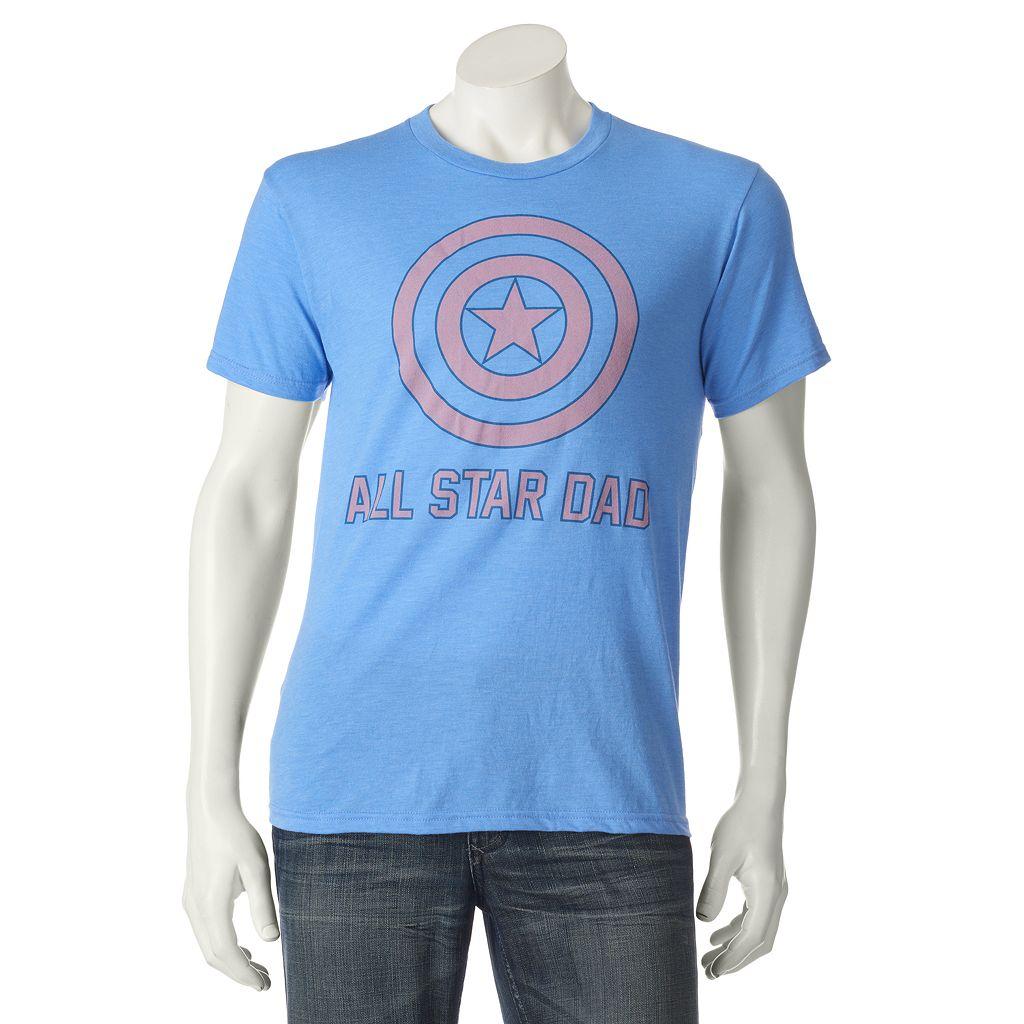 Men's Marvel Captain America All-Star Dad Tee