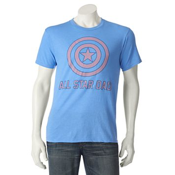 Men's Marvel Captain America All-Star Dad Tee