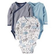 Baby Boy Carter's 3 pkSide-Snap Bodysuits
