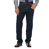 Big & Tall Croft & Barrow® Classic-Fit Stretch Flannel-Lined Jeans