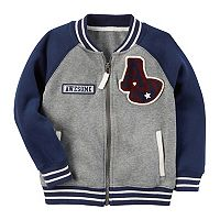 Boys 4-7 Carter's Baseball Zip-Up Fleece Sweatshirt