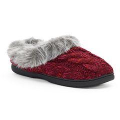 Women's Dearfoams Cable Knit Clog Slippers