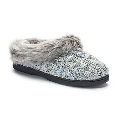 Women's Dearfoams Cable Knit Clog Slippers