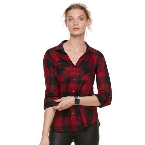 Women's Rock & Republic® Drapey Plaid Shirt