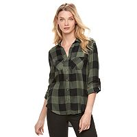 Women's Rock & Republic® High-Low Plaid Shirt