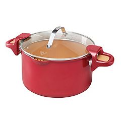 Red Copper 5-Qt. Pasta Pot As Seen on TV