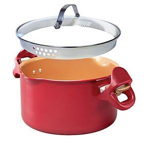 Red Copper 5-Qt. Pasta Pot As Seen on TV