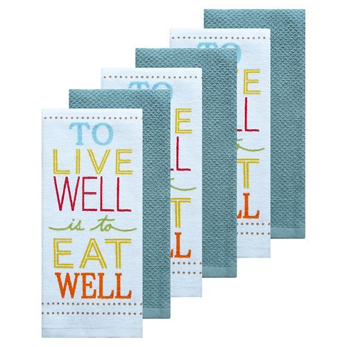 The Big One® 6-pc. To Live Well Kitchen Towel Set