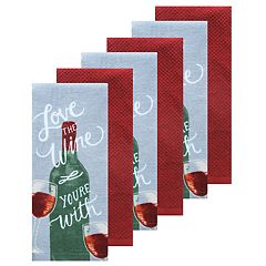 The Big One® 6 pc Wine Kitchen Towel Set