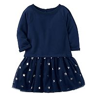 Toddler Girl Carter's Navy & Stars Tutu Dress