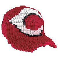Forever Collectibles Cincinnati Reds BRXLZ 3D Baseball Cap Puzzle Set