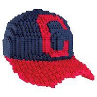 Forever Collectibles Cleveland Indians BRXLZ 3D Baseball Cap Puzzle Set