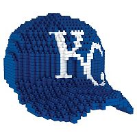 Forever Collectibles Kansas City Royals BRXLZ 3D Baseball Cap Puzzle Set