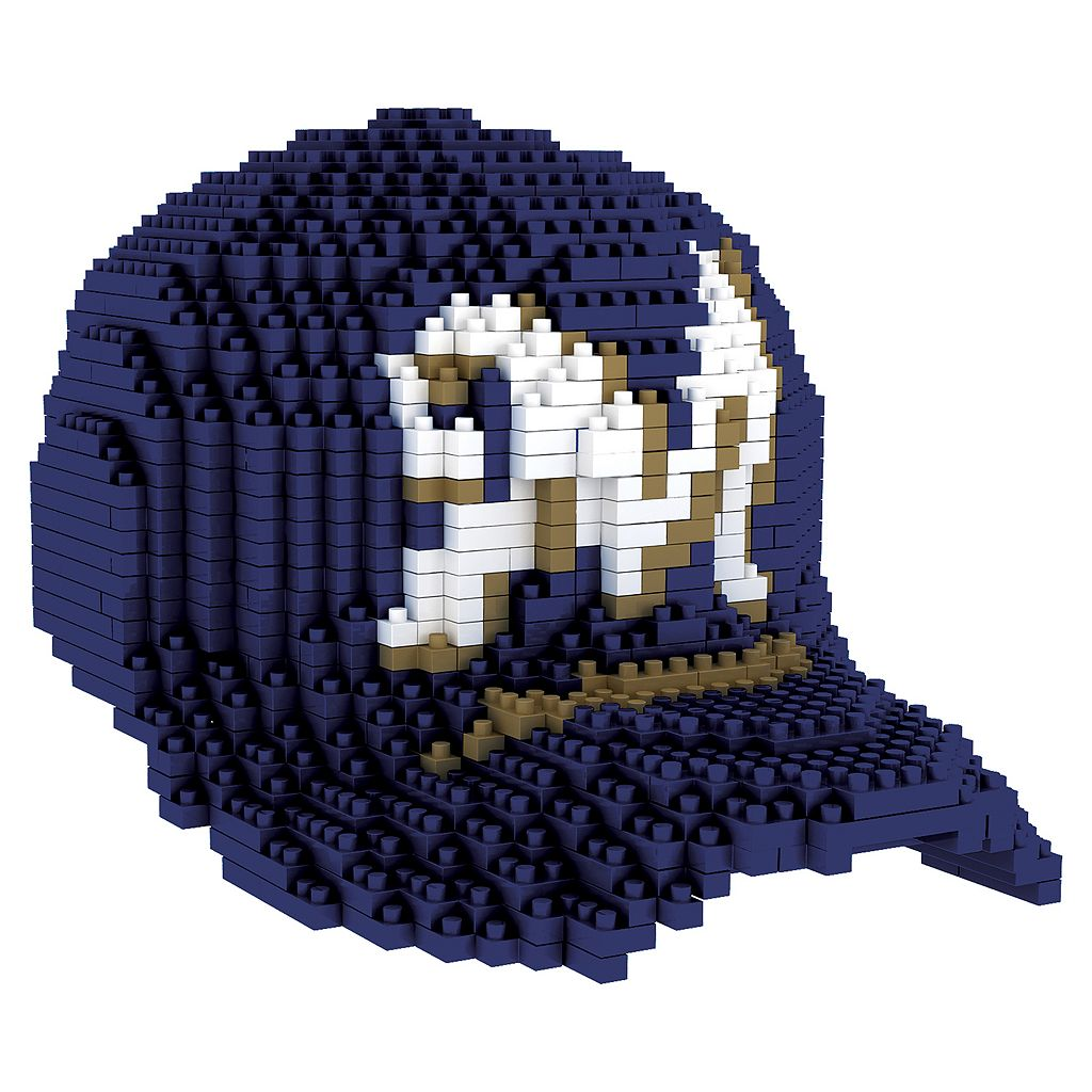 Forever Collectibles Milwaukee Brewers BRXLZ 3D Baseball Cap Puzzle Set