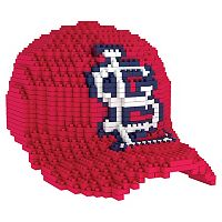 Forever Collectibles St. Louis Cardinals BRXLZ 3D Baseball Cap Puzzle Set