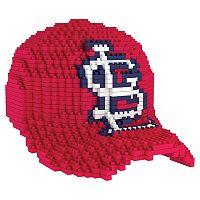 Forever Collectibles St. Louis Cardinals BRXLZ 3D Baseball Cap Puzzle Set