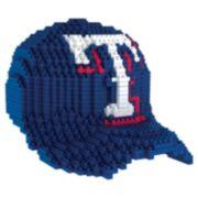 Forever Collectibles Texas Rangers BRXLZ 3D Baseball Cap Puzzle Set