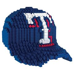 Forever Collectibles Texas Rangers BRXLZ 3D Baseball Cap Puzzle Set