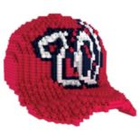 Forever Collectibles Washington Nationals BRXLZ 3D Baseball Cap Puzzle Set
