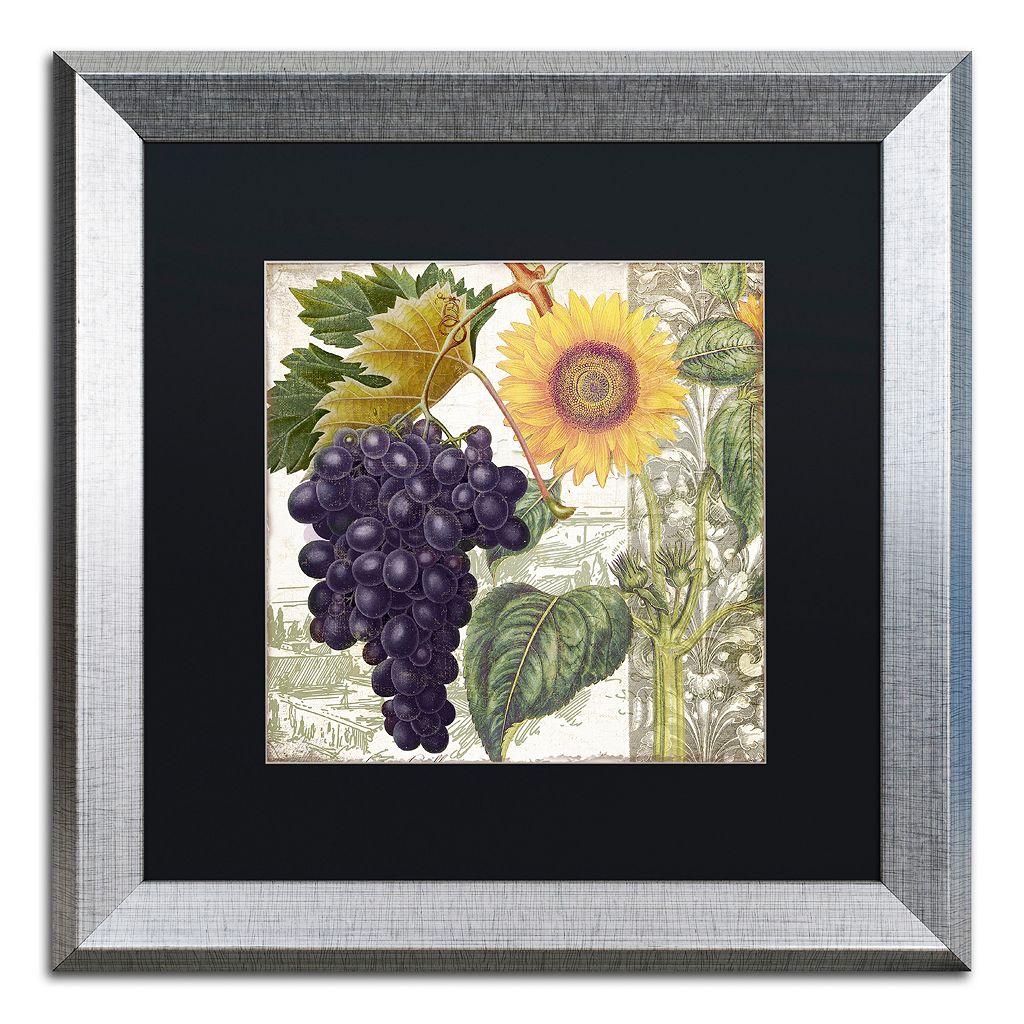 Trademark Fine Art Dolcetto I Silver Finish Framed Wall Art