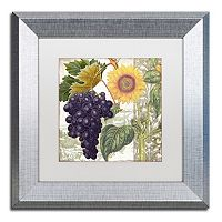 Trademark Fine Art Dolcetto I Silver Finish Framed Wall Art