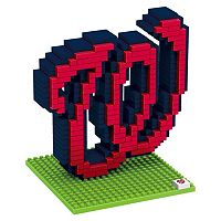Forever Collectibles Washington Nationals BRXLZ 3D Logo Puzzle Set